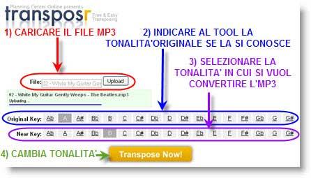 Transposr: cambia tonalità alle canzoni in mp3