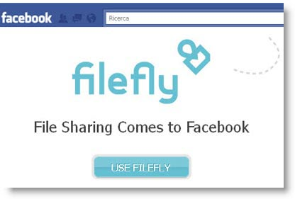 Filefly: condivisione file su Facebook