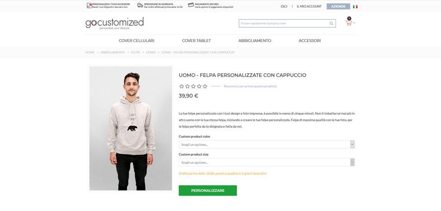 Abbigliamento personalizzato: la nostra esperienza di acquisto su GoCustomized